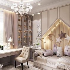 Pretty Girls' Bedroom Designs - Sweet Home Small Space Interior Design, Kids Room Design, Modern Bedroom Design, Luxury Kids Bedroom, Girls Bedroom, Bedroom Decor, Bedroom Ideas, Cool Beds For Kids, Little Girl Rooms