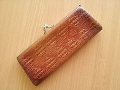 Vintage Leather Glasses Case Soviet Handmade by TinutesCreations