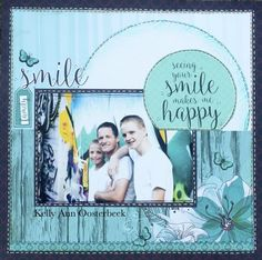 Today I'm sharing 3 layouts I've made using the divine new Sea Breeze Collection from Kaisercaft. Scrapbooking Layouts, Scrapbook Cards, Dad Day, You Make Me Happy, Photo Layouts, General Crafts, First Photo, One Pic, Breeze