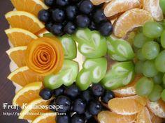 Fruit Carving Arrangements and Food Garnishes: Fruit Kaleidoscope Display
