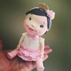 Cute baby girl cake topper