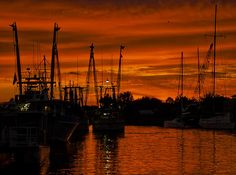 Beautiful sunset shot of Tarpon Springs
