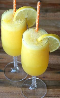 Tropical Moscato Wine Slushies Frozen Summer Drink