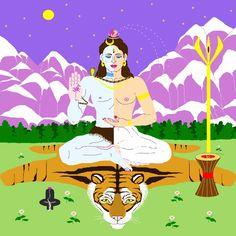 Shiva Shakti by Crystella Poupard Digital image