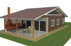 casa com terraço colonial duas aguas - Pesquisa Google