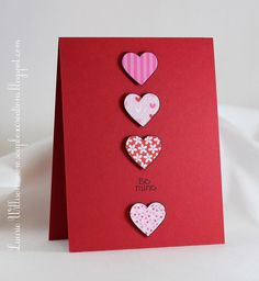 My favorite holiday and just love this simple red heart card!