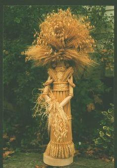 Wheat garden art by Renske Helmuth.