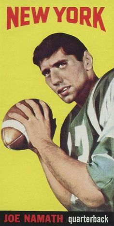 List, analysis, buying guide and images of the 10 most valuable football rookie cards from the Players include Joe Namath, Mike Ditka & Dick Butkus. American Football League, Alabama Football, Nfl Football, Football Decor, School Football, Nfl Sports, Mike Ditka, Joe Namath, Football Hall Of Fame