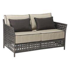 Zuo Modern 703518 Pinery Sofa in Beige Beige Sofa, Beige Cushions, Brown Sofa, Patio Furniture Sets, Wicker Furniture, Home Furniture, Outdoor Furniture, Wicker Sofa, Pallet Furniture
