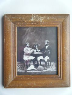 Muslim Islamic Scholars Vintage Photograph In Old Wood Wall Frame India #2222
