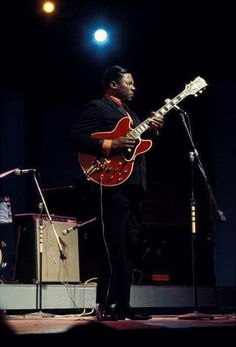 Happy Birthday B.B. King. Born September 16, 1925. A great photo of BB King on stage at the Fillmore West in San Francisco, CA. June 6, 1968. Photo courtesy of American Blues Magazine.