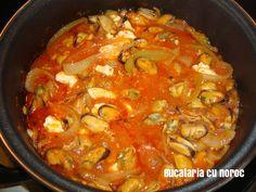 Midii saganaki - Bucataria cu noroc Curry, Ethnic Recipes, Food, Curries, Essen, Meals, Yemek, Eten
