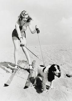 Marilyn & a Cocker Spaniel