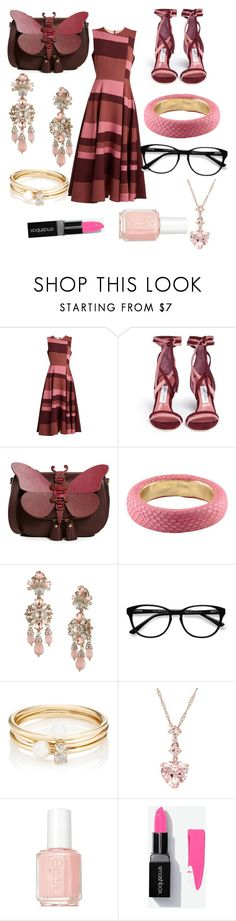 """""""""""Pretty In Pink"""" outfit"""" by kaylarose6306 ❤ liked on Polyvore featuring Roksanda, Jimmy Choo, Anya Hindmarch, Pinko, Marchesa, EyeBuyDirect.com, Loren Stewart and Essie"""