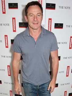 Jason Isaacs celebrates following the live broadcast of The Donmar Warehouse's production of 'The Vote' at the Ham Yard Hotel 7th May 2015.
