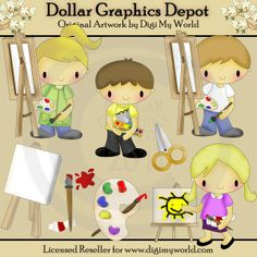 Color Your World - Clip Art - $1.00 : Dollar Graphics Depot, Quality Graphics ~ Discount Prices