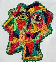 'Oh! Picasso' - freeform crochet by Prudence Mapstone