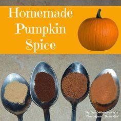 Homemade Pumpkin Spice by The Adventures of a Born Again Farm Girl
