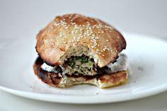 Milk and Honey: Turkey and Zucchini Burgers with Yoghurt Sumac Sauce