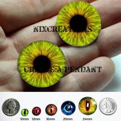 Glass Eyes - 24mm - Green Hazel Human Doll Taxidermy Eyes Handmade Glass Cabochons for Steampunk Jewelry and Pendant Making $9.00
