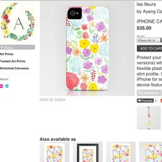 Floral Print iPhone Case by Ayang Cempaka etsy.com/shop/ayangcempaka
