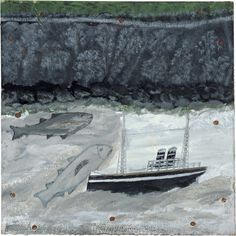 Alfred Wallis : Land, fish and motor vessel, 1932-37.
