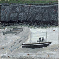 Alfred Wallis : Land, fish and motor vessel, 1932-37.