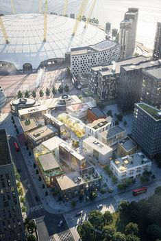 SelgasCano and 6a Architects are amongeight studios creating buildings for a purpose-built design district at the heart of Greenwich Peninsula in London.