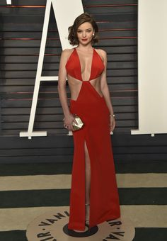 Inside the Most Exclusive Oscar After-Parties - Miranda Kerr in Kaufmanfranco and Atelier Swarovski jewelry