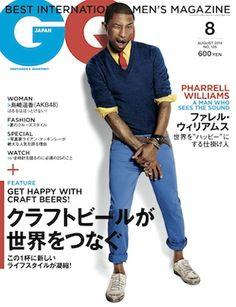 GQ JAPAN8月号はファレル・ウィリアムスが表紙!|メンズファッション、時計、高級車、男のための最新情報|GQ JAPAN