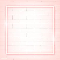Square pink neon frame on a white brick wall vector | premium image by rawpixel.com / manotang White Brick Background, New Background Images, White Brick Walls, Background Design Vector, Leaf Background, Framed Wallpaper, Graphic Wallpaper, Wallpaper Backgrounds, Instagram Frame