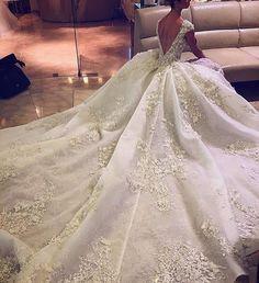Long Catherdral Swarovski crystals and pearl wedding dress. Long Catherdral Swarovski crystals and pearl wedding dress. Disney Wedding Dress, Wedding Dress Mermaid Lace, Long Gown For Wedding, Weeding Dress, Wedding Dress Train, White Wedding Dresses, Bridal Dresses, Wedding Gowns, Bridesmaid Dresses