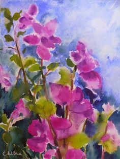 Paintings of Flowers by artist Chitra Vaidya
