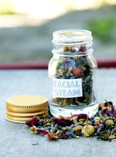 This DIY herbal facial steam is so easy to make and it's a great way to naturally reduce acne breakouts, boost circulation and remove toxins.