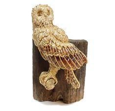 Barevný Diamond a Gold Owl sochařství tím, že Hemmerle - FD