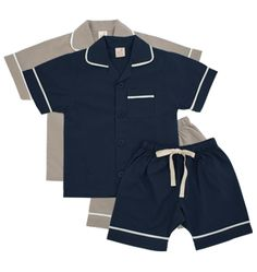 Short Sleeve Oxford Pyjamas