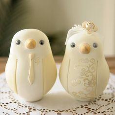 Custom Wedding Cake Topper Lovebirds by RedLightStudio