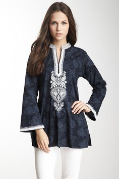Sheela Print Sequin Tunic by Sulu Collection on @HauteLook