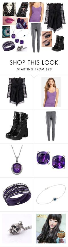 """Cadie Willows Outfit Fifty-six"" by yukihanayuuki ❤ liked on Polyvore featuring Boohoo, Nordstrom, yeswalker, Essie, Swarovski, Ileana Makri and Clair Beauty"