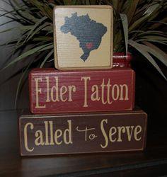 MISSIONARY Blocks Elder/ Sister Called To by SimpleBlockSayings, $31.95 {LOVE THIS}