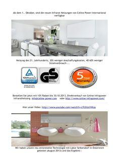 ab-dem-1-oktober-sind-die-neuen-infrarot-heizungen-von-celine-power-international-verfgbar-27127273 by Marina Infocenter via Slideshare.Ab dem 1.. Oktober, sind die neuen Infrarot Heizungen von Celine Power International verfügbar in La Marina-Spanien. -------------------------------------------------- - Heizung des 21. Jahrhunderts, 30% weniger Anschaffungskosten, 40-60% weniger Stromverbrauch