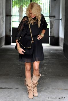 great style- love the outfit but not the shoes with this outfit..