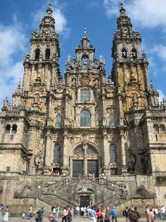 Catedral de Santiago de Compostela One of the end of the Camino, the other one is Fisterra