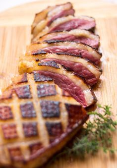 Magret de Canard (Seared Duck Breast with Honey, Orange, and Thyme)