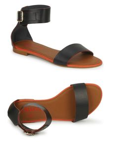 The Perfect Flat Sandals  mmm   more ankle straps