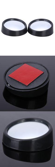 2 Pcs Car mirror Wide Angle Round Convex Blind Spot mirror for parking Rear view mirror Rain Shade Auto Accessories