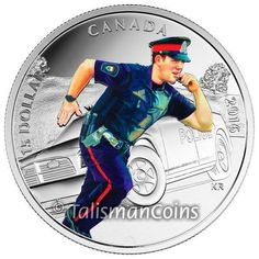 Pure Silver Coloured Coin – National Heroes: Police – Mintage: