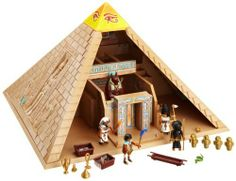 Playmobil 4240 Romans Egyptians Set Pyramid by Playmobil. $159.00. Please note: This item may ship in the original manufacturer shipping carton which contains Playmobil logos as well as a tiny picture of the item enclosed. Please consider shipping to an alternate address if this is a gift.. The amulet unlocks several traps and opens the secret entrance.