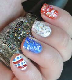 Perfectly Polished....My Fourth of July nail art!