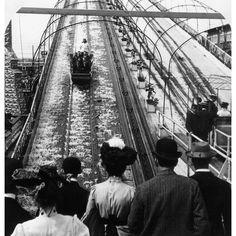 Shooting the Chutes. Luna Park, Coney Island.